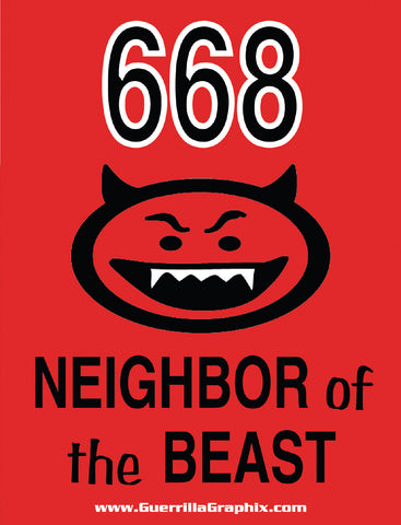 Neighbor of the Beast Sticker - 668