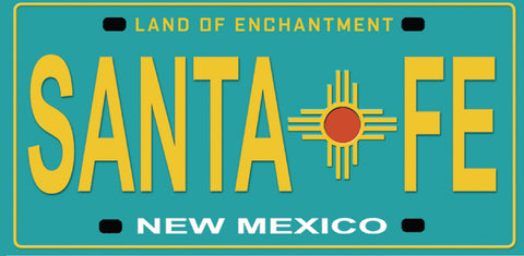 Santa Fe License Plate Sticker