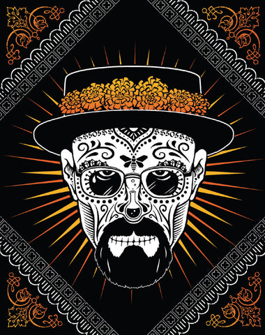 Heisenberg Sugar Skull Sticker