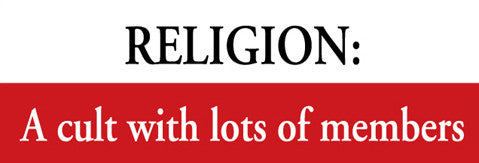 Religion Cult Sticker