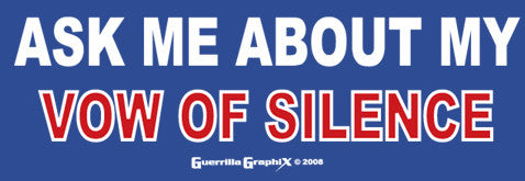 Vow of Silence Sticker