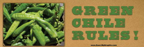 Green Chile Rules Sticker