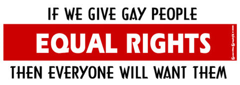 Equal Rights for Gays Sticker