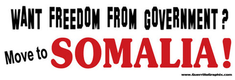 Move to Somalia Sticker