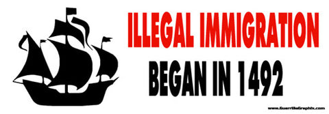 Illegal Immigration Sticker