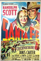 Santa Fe Movie Poster Postcard