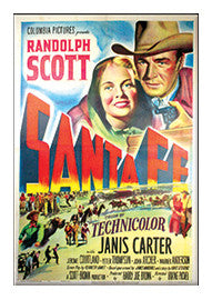Vintage Santa Fe Movie Poster Magnet