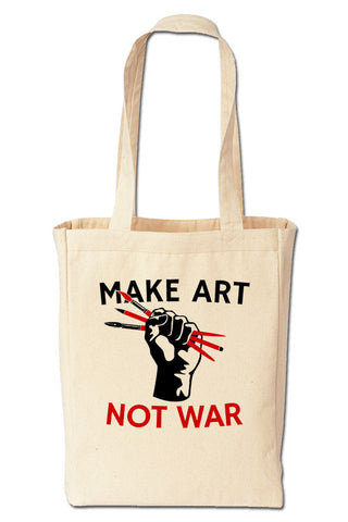 Make Art Not War Tote Bag