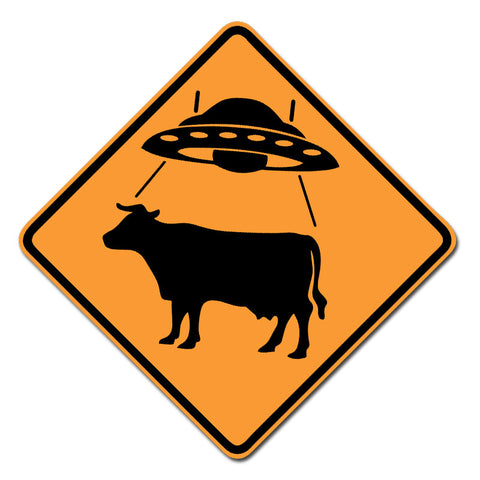 UFO Cow X-ing - Vinyl Sticker