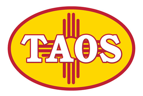 Taos New Mexico Vinyl Bumper Sticker