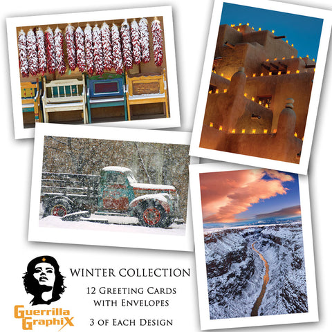 Winter Collection Greeting Card Box Set (12 Cards)