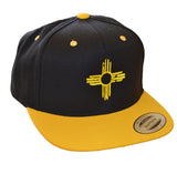 Flatbill - Embroidered Zia Hat - Black/Gold