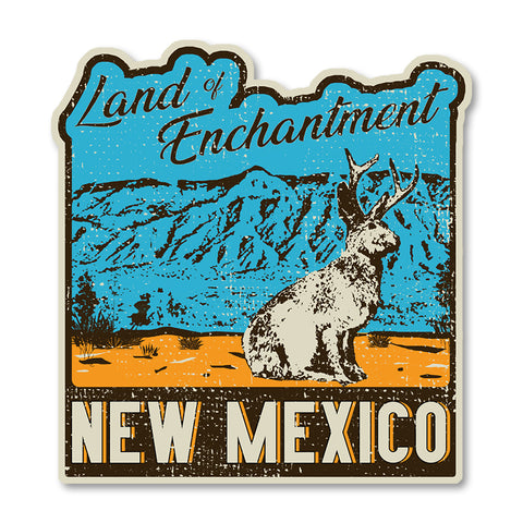 Land of Enchantment Jackalope - Vinyl Sticker