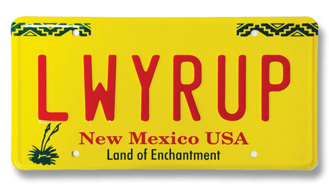 Breaking Bad - LWRYUP - Metal Vanity Plate