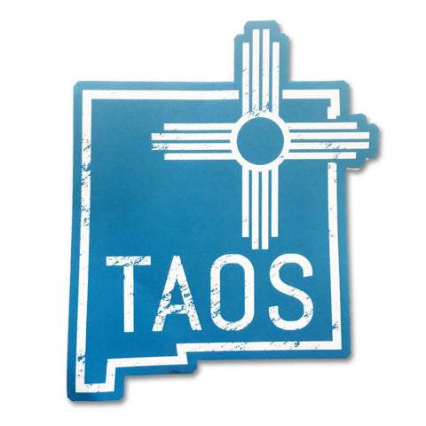 Taos State Outline - Vinyl Sticker