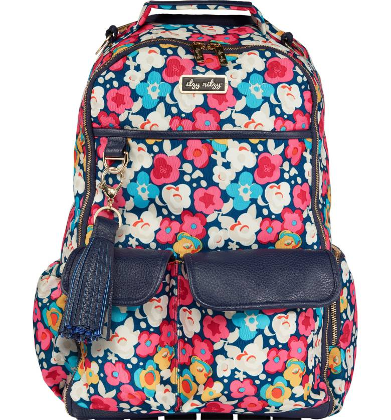 Itzy Ritzy Diaper Bag- Boss Diaper Bag Backpack Rosy Pop