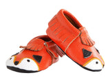 Itzy Ritzy Mocc Happens Leather Baby Moccasins- Little Fox