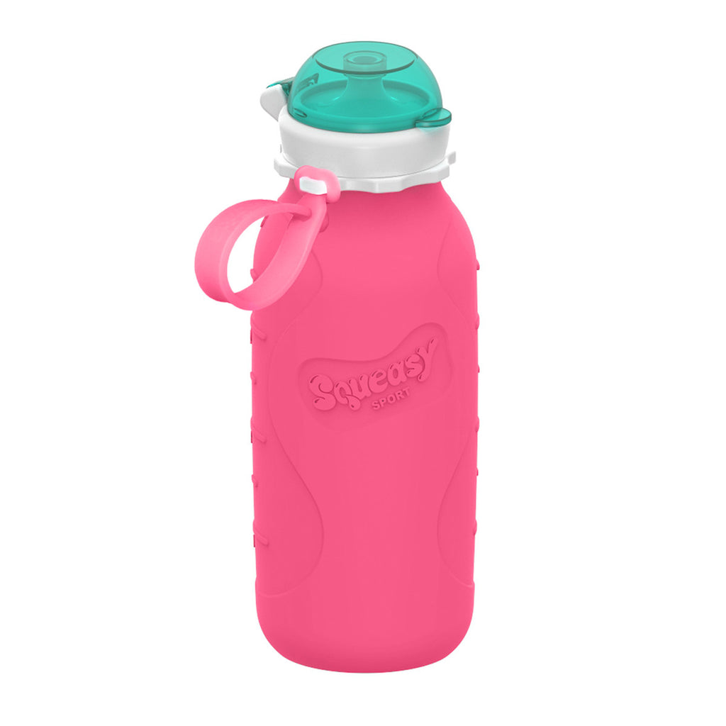 16oz Squeasy Sport Silicone Bottle - Pink