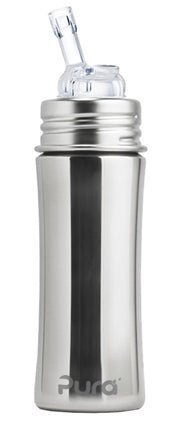 Pura Kiki- 11oz Toddler Stainless Steel Straw Bottle with Sleeve (more colors available)