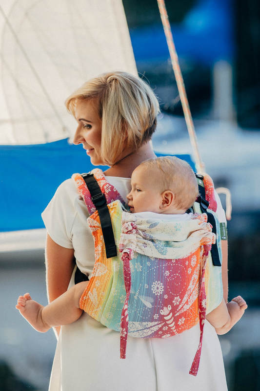 Lenny Lamb Buckle Onbuhimo Toddler Carrier- Dragonfly Rainbow