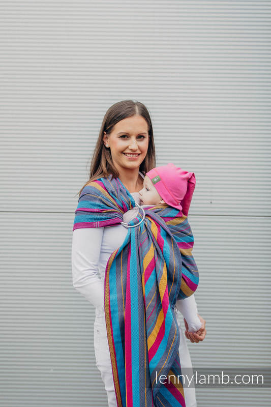 Lenny Lamb Ring Sling Baby Carrier- Little Herringbone Nightlights