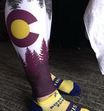 Colorado Threads Burgundy Native Yoga Pants (IN-STOCK)