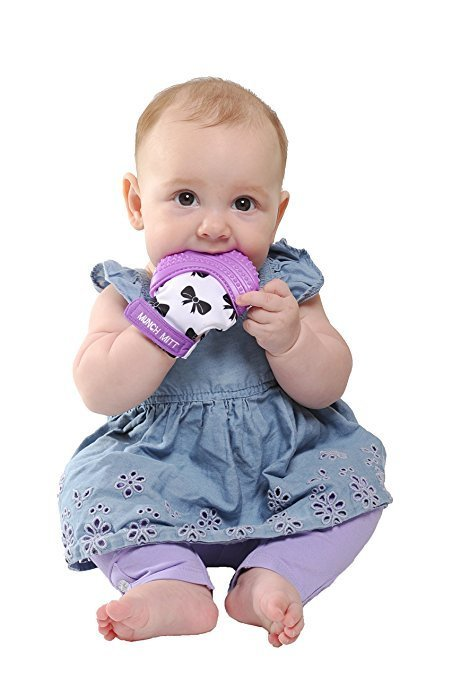 Malarkey Kids Munch Mitt - Purple Shimmer Bows