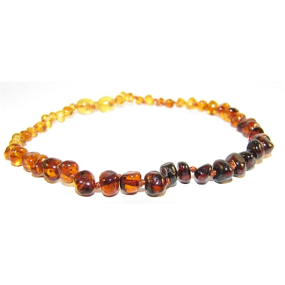 "Amber Monkey Baltic Amber Necklace (10""-11"") - Polished Rainbow"