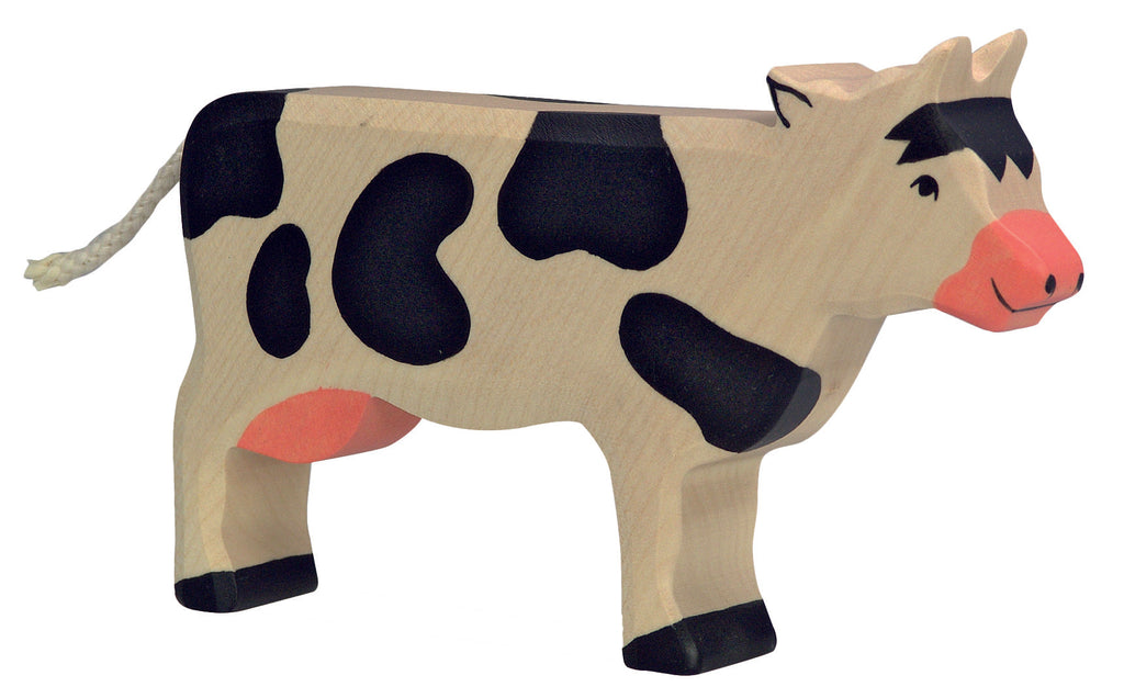 Holztiger Wooden Toys- Standing Black Cow
