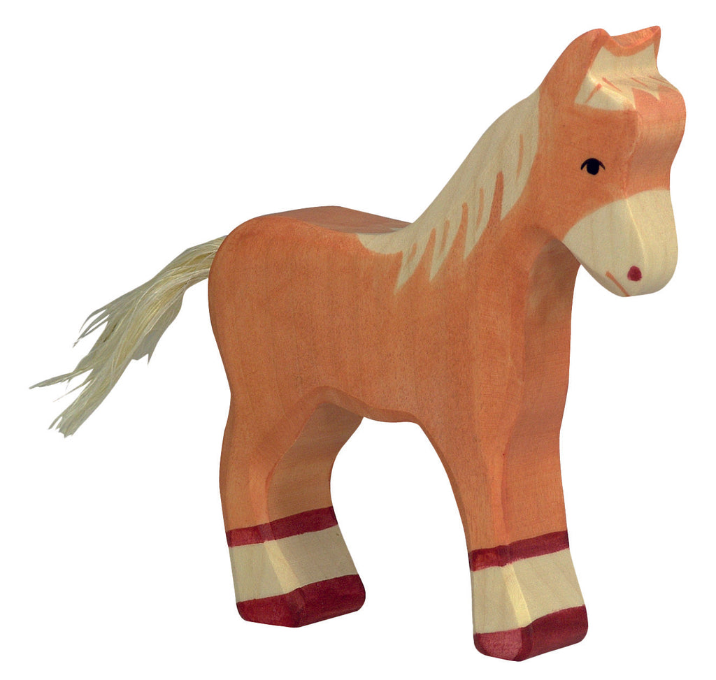 Holztiger Wooden Toys- Light Brown, Standing, Foal