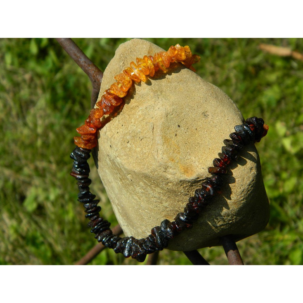 "Amber Adult Necklace- 18"" Ombre chips"