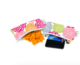 Itzy Ritzy Snack Happens Mini Reusable Snack and Everything Bag- Fresh Bloom