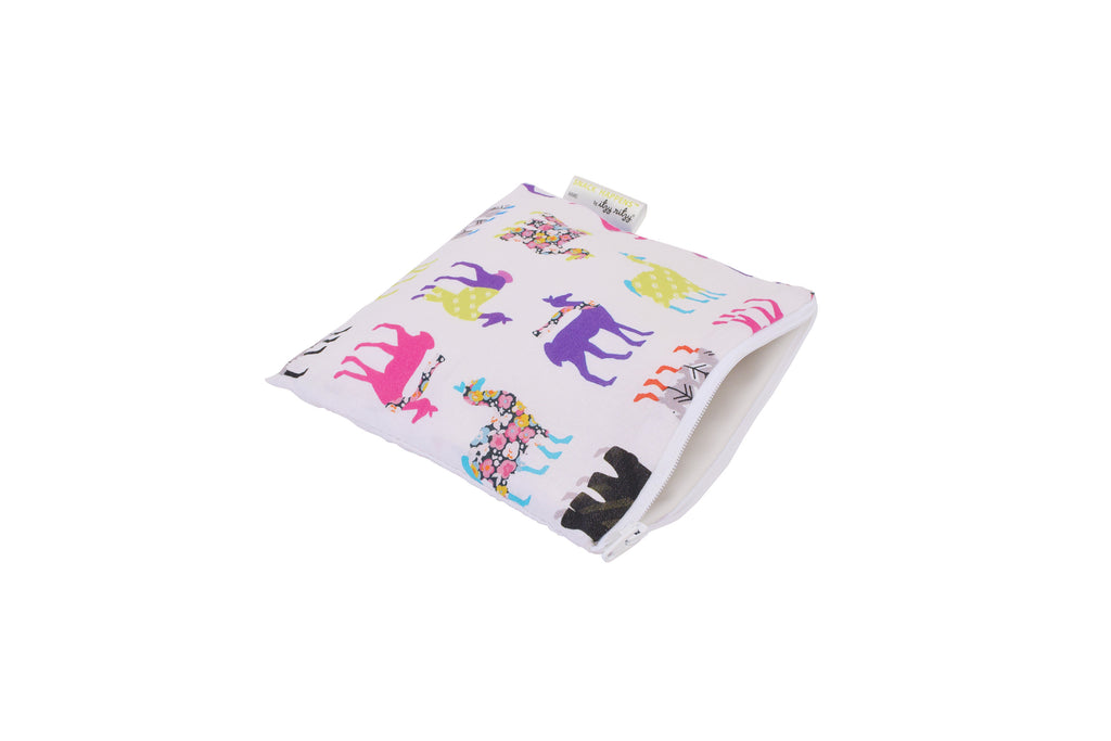 Itzy Ritzy Snack Happens Reusable Snack and Everything Bag- Llama Glama