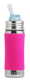Pura Kiki- 11oz Toddler Stainless Steel Straw Bottle with Sleeve - Pink