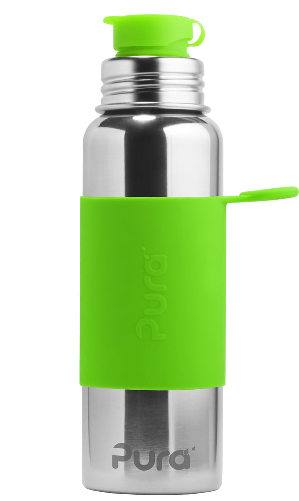 Pura Sport- 28oz Stainless Steel Bottle - Green