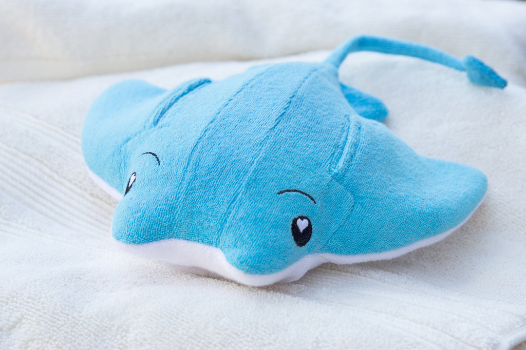 SoapSox Plush Sponge- Ray the Manta