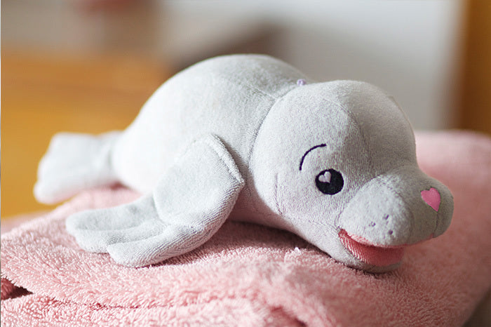 SoapSox Plush Sponge- Charolette the Seal