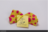 Yellow with Pink Polka Dots Baby Paper