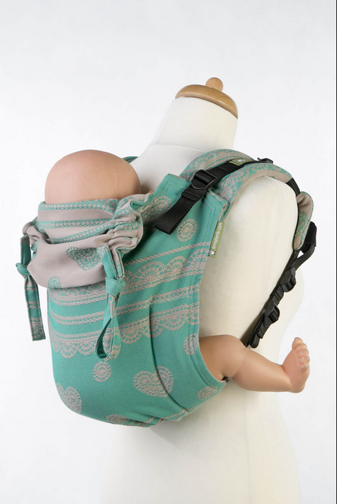 Lenny Lamb Buckle Onbu Baby Carrier- Pistahio Lace