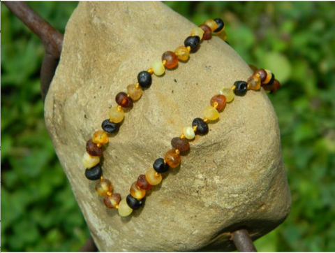 "Amber Monkey Baltic Amber Necklace (10""-11"") - Raw Honey"