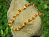 Amber Baby Necklace- Raw Milky & Cognac