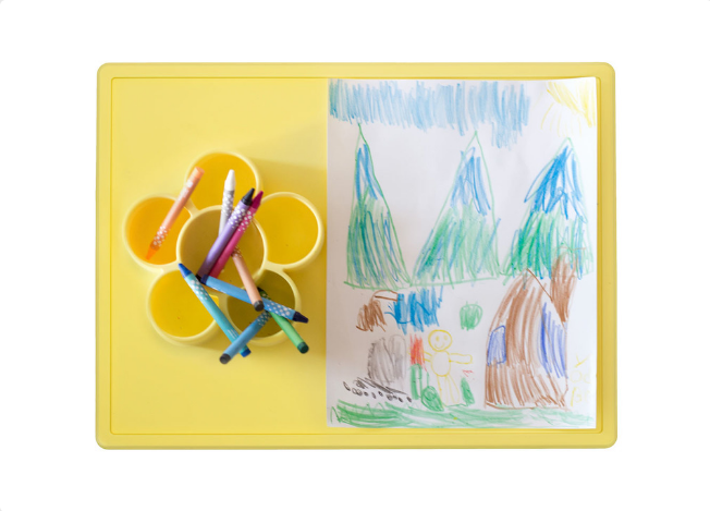 EZPZ Flower Play Mat- Lemon