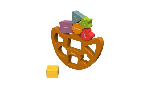Begin Again Toys Balance Boat Shapes and Colors