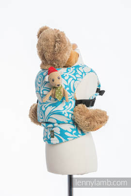 Lenny Lamb Doll Carrier- Turquoise Twisted Leaves