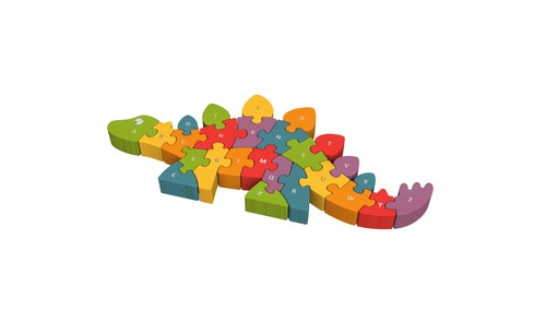 Begin Again Toys Wooden Dinosaur A-Z Puzzle