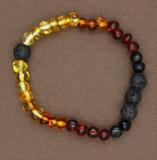 Lemon Vines Amber- Adult Polished Rainbow Bracelet