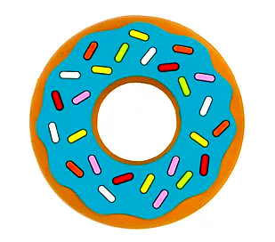 Silli Chew Teethers- Donuts (Multiple Color Options)