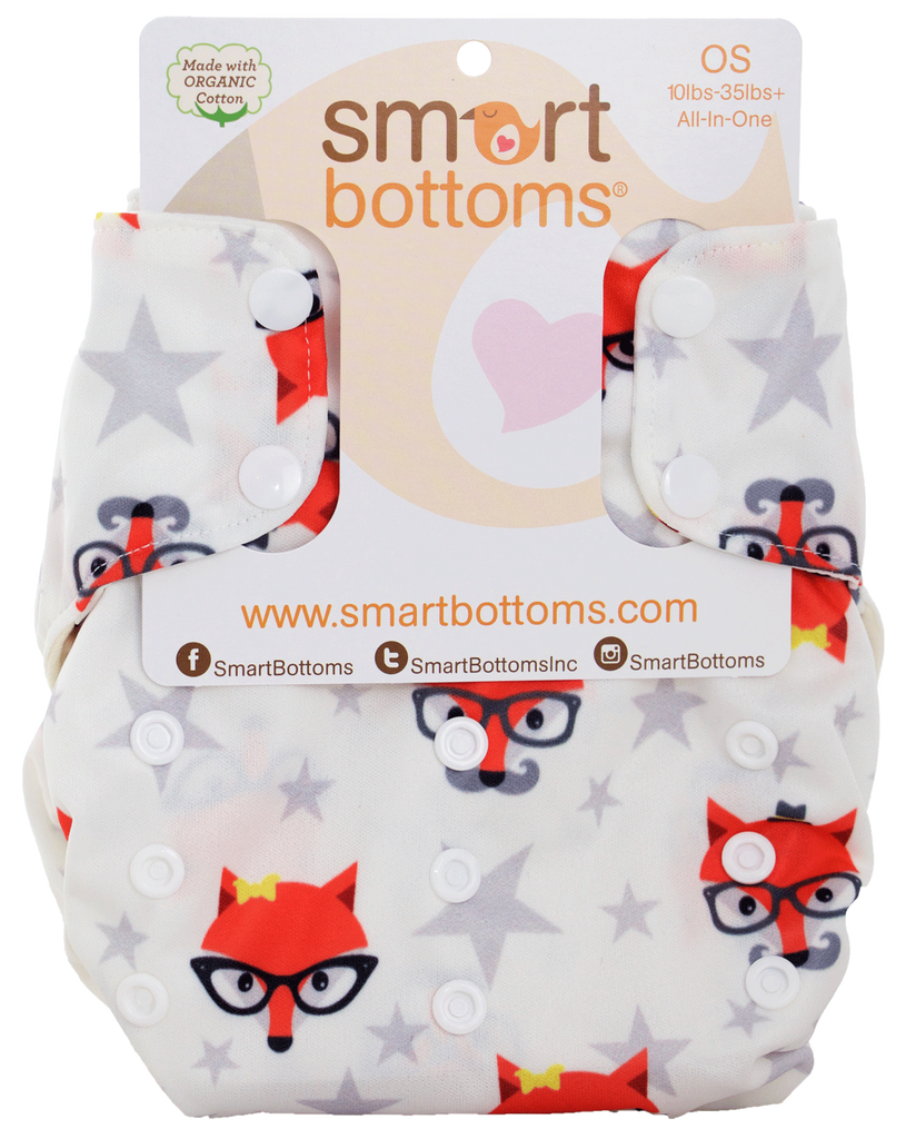 Smart Bottoms Smart One 3.1 Cloth Diaper- Fantastic Hipster Fox