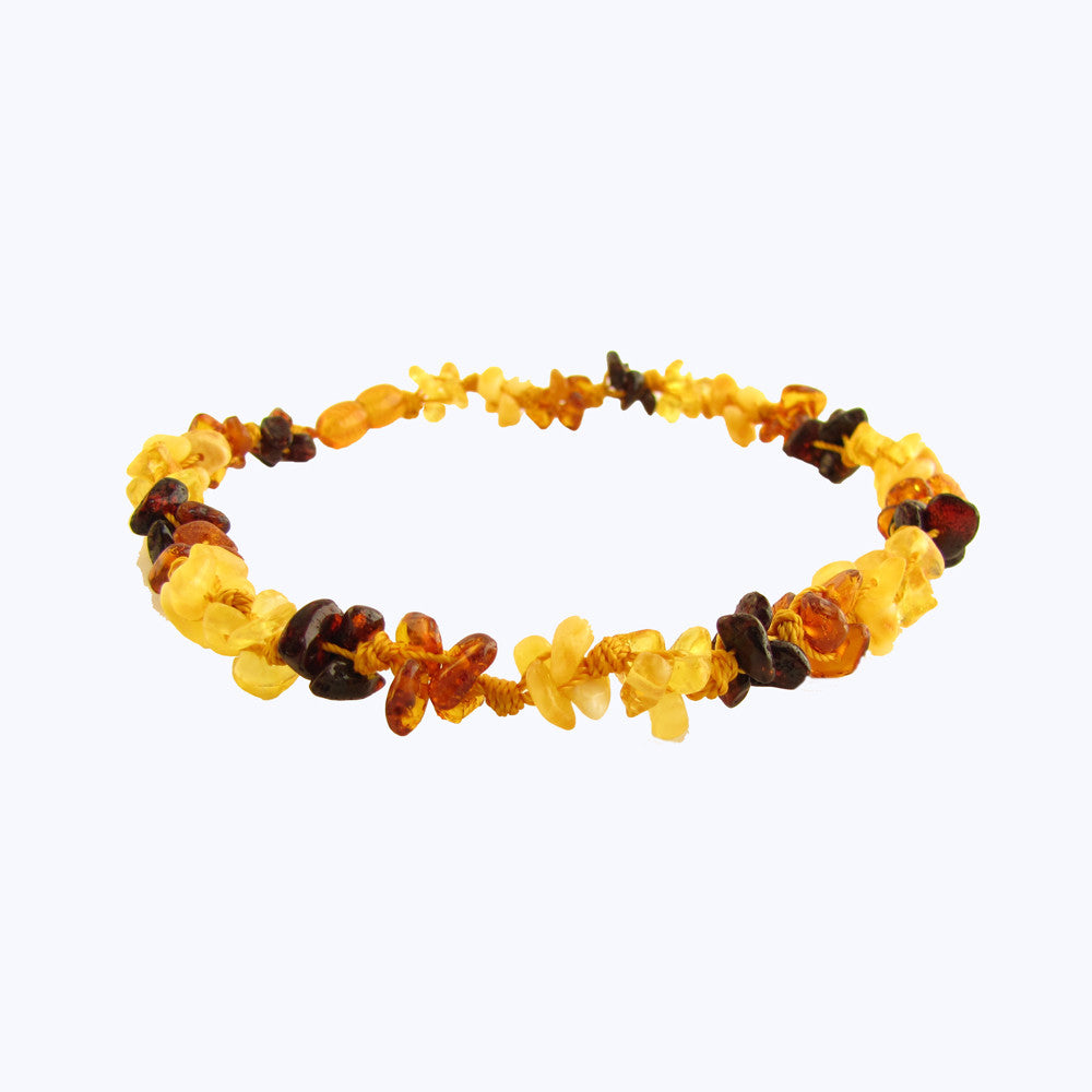 "Amber Monkey Baltic Amber Necklace (10""-11"") -  Multi-knots"