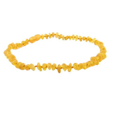 Amber Baby Necklace- Raw Multicolor *POP Clasp*